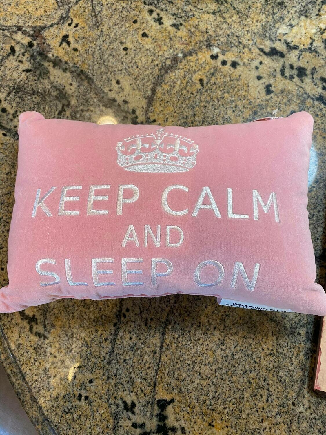 Pink crown pillow ONLY ONE