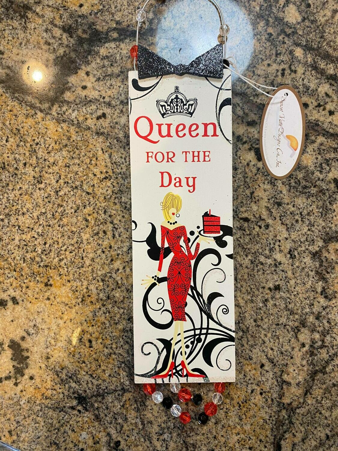 Queen for the day door hanger 3 Left