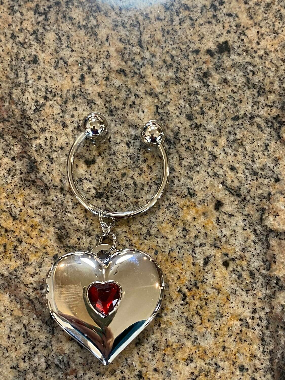 heart key chain locket 4 Left