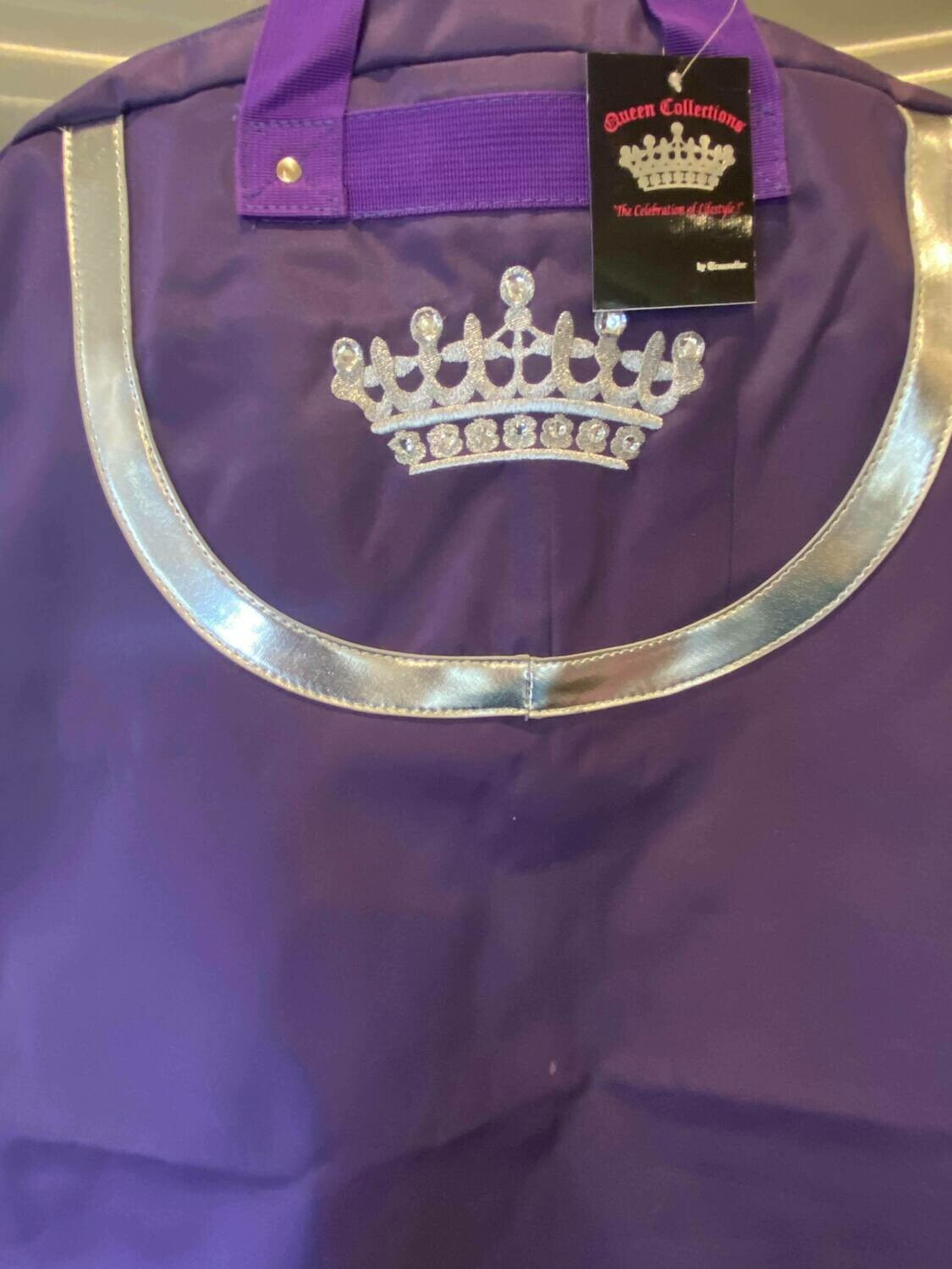 purple dress bag crown ONLY ONE