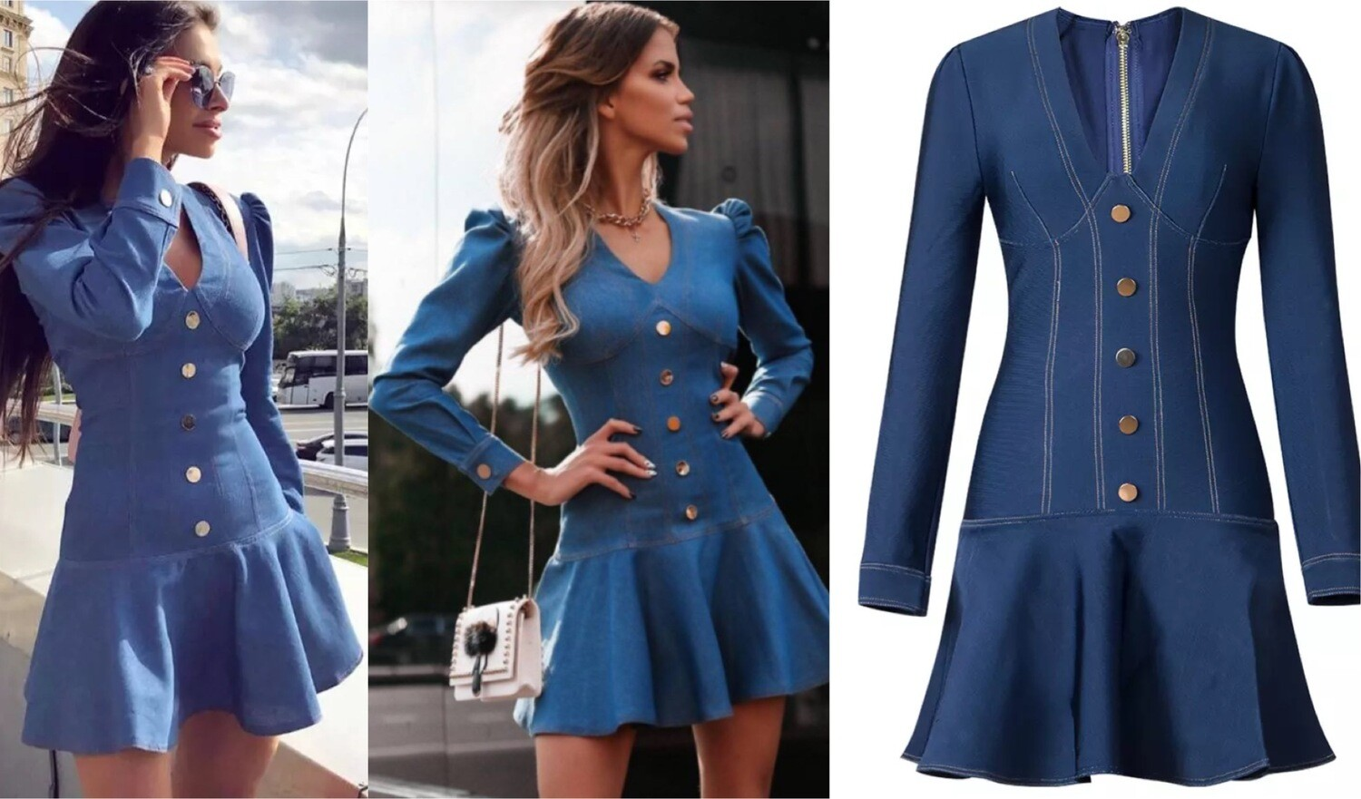 Denim Fashion Dress