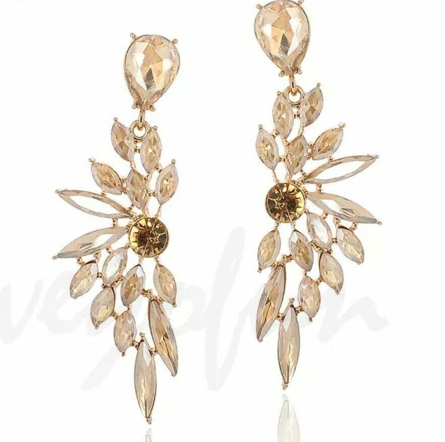 gold wing earring