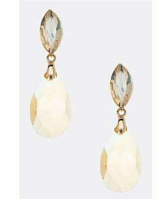 amber drop earring