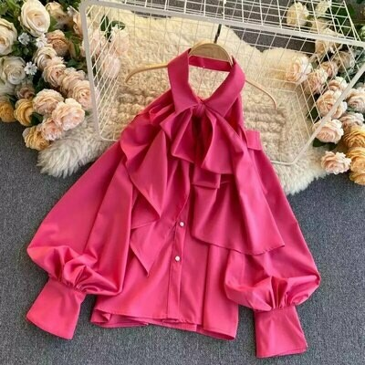 pink bow top one size