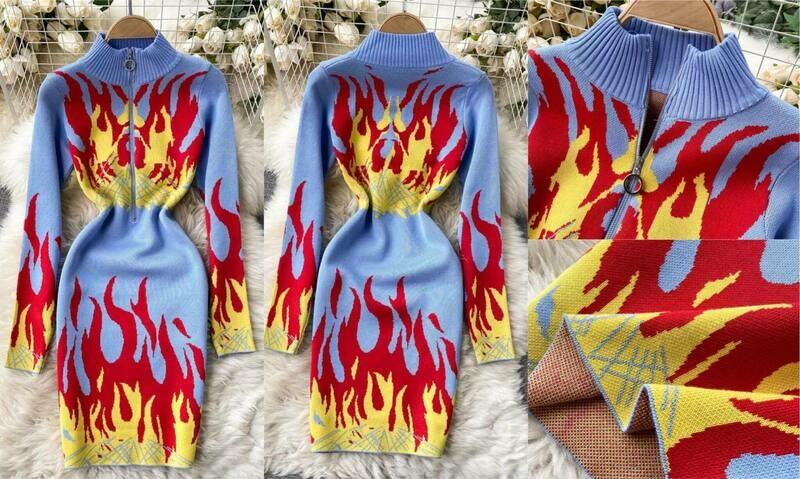 fire dress One Size
