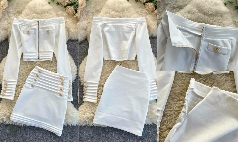 two piece white set