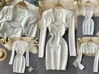 white dress set