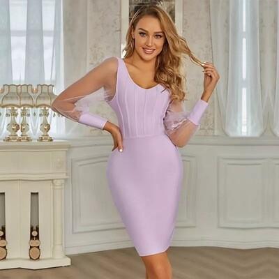 Lavender bandage dress