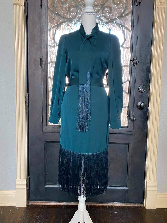 ONLY ONE Green Fringe Skirt Set