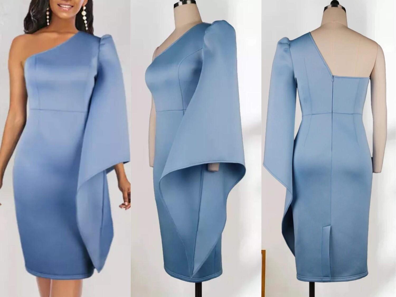 Light Blue scuba dress