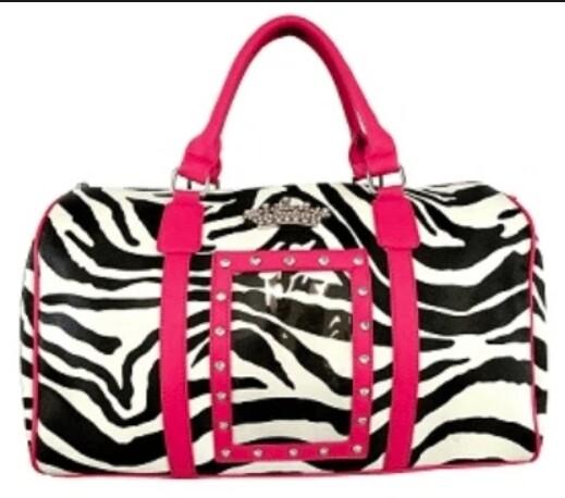 zebra crown tote