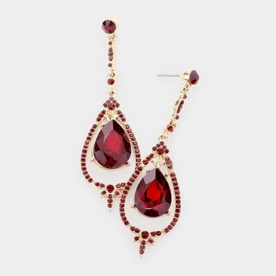 Red/Gold Earring