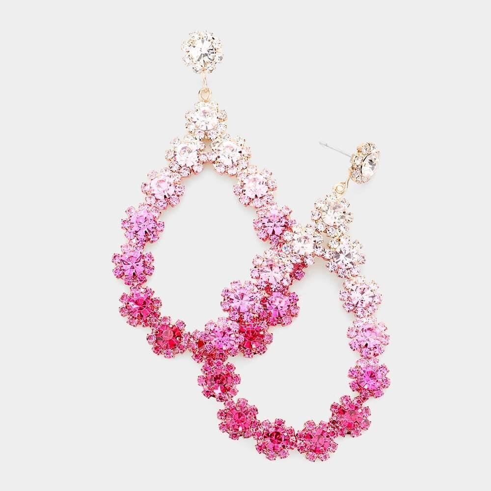 Pink ombré Earring