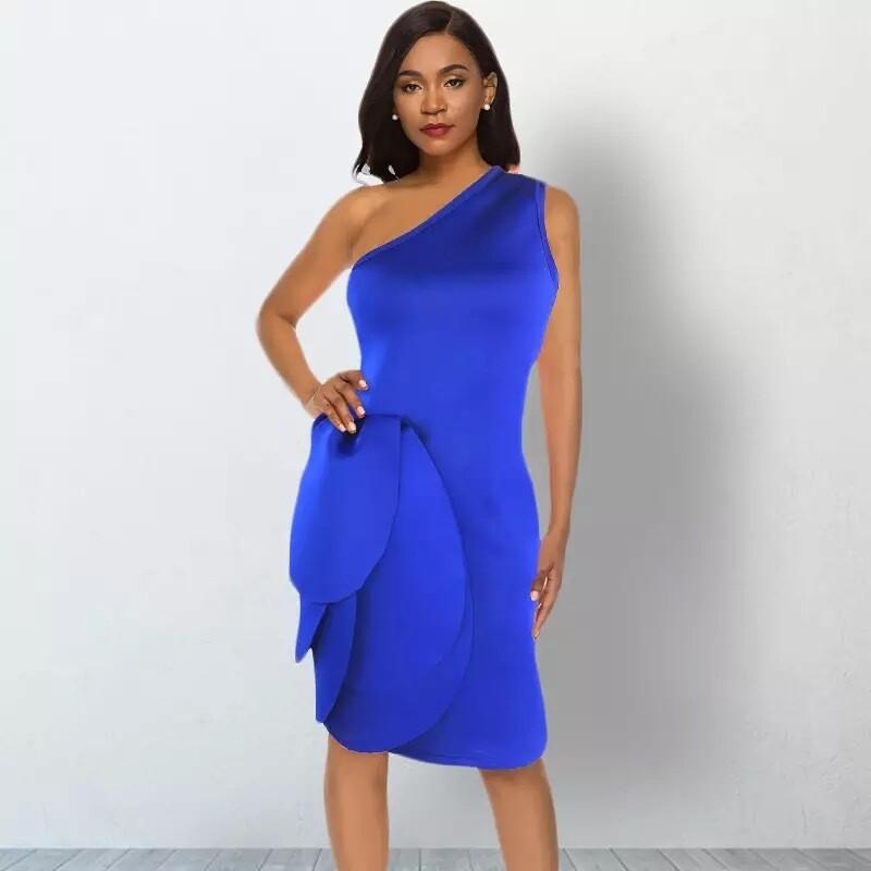 Blue scuba dress