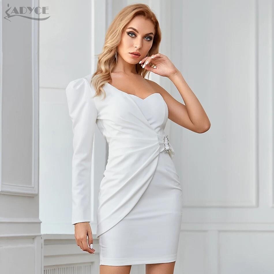 White two piece dress