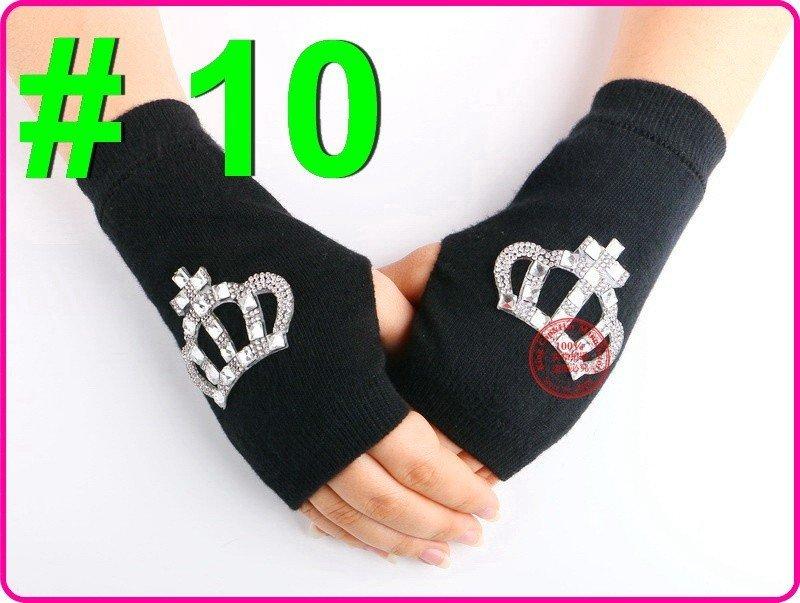 Crown Fingerless Gloves