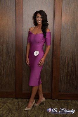 Purple Bandage Dress