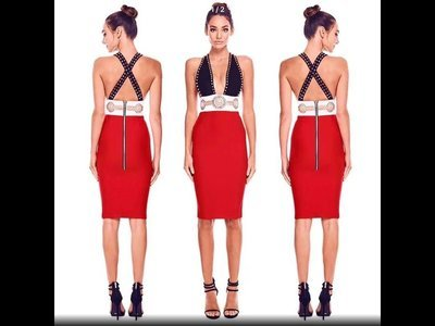 Red and White Bandage Dress