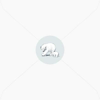 Stickers de naissance petit ourson blanc avec sa mère