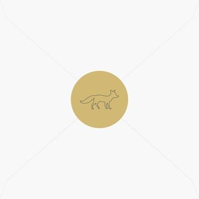 Stickers de naissance renard chic pour garçon