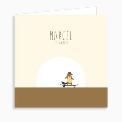 Faire-part de naissance les petits skateurs (dépliant 4 pages)