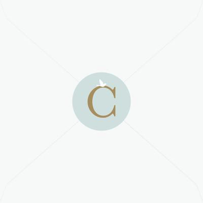 Stickers de baptême monogramme et colombe