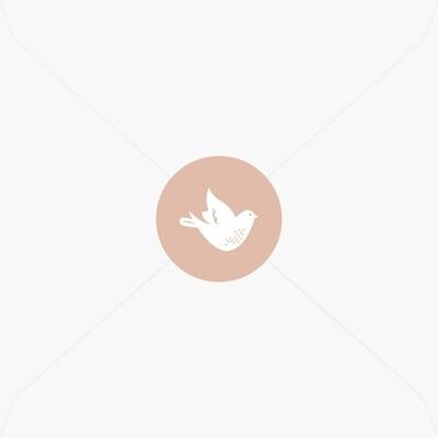 Stickers de baptême jolie petite colombe