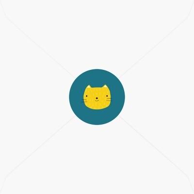 Stickers de naissance petit chat