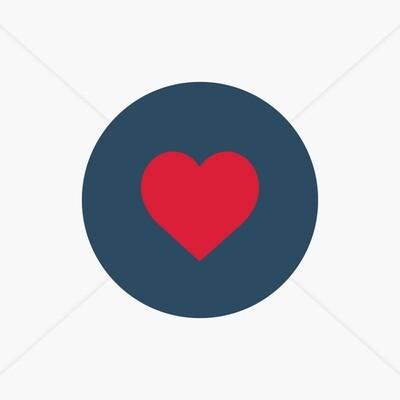 Stickers de naissance cœur pour faire-part marinière