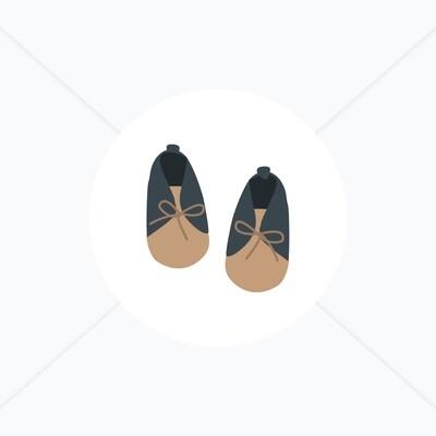 Stickers de naissance chaussures pour bébé