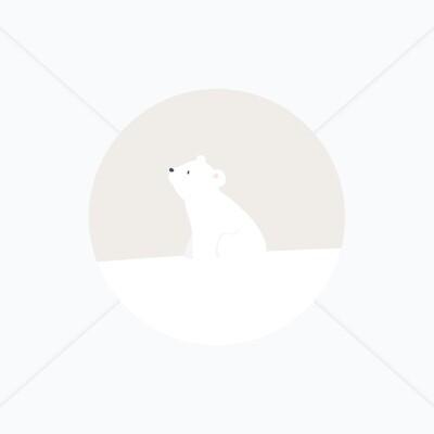 Stickers de naissance ourson blanc et lapin arctique