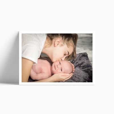 Carte de remerciement naissance bottes de pluie (carte postale)