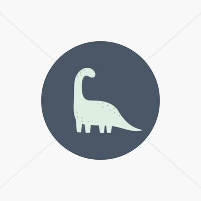 Stickers de naissance Dinosaures