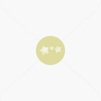 Stickers de naissance ballon et étoiles pour garçon
