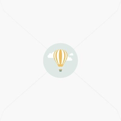 Stickers de naissance montgolfière pour garçon