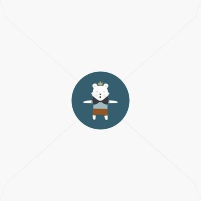 Stickers de naissance petit tigre blanc et sa couronne