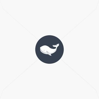 Stickers de naissance petite baleine pour garçon