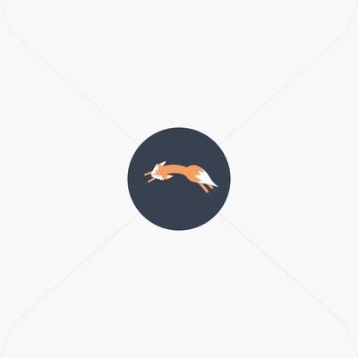 Stickers de naissance petit renard pour garçon