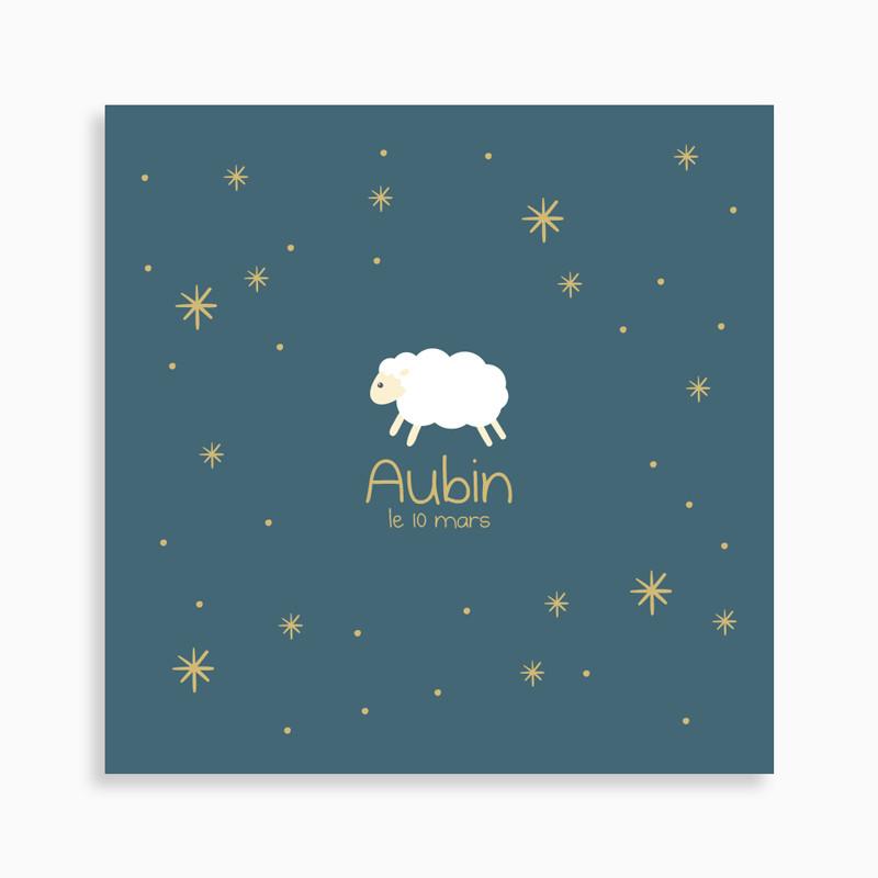 Faire-part de naissance petit mouton blanc