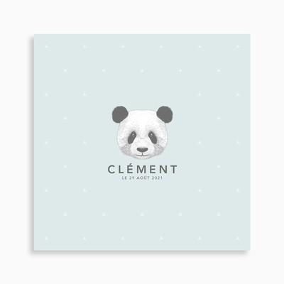 Faire-part de naissance petit panda pour garçon
