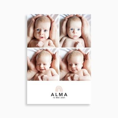 Faire-part de naissance photomaton moderne (carte postale)