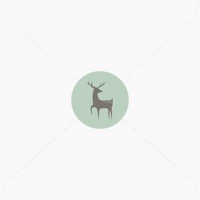 Stickers de naissance jeune cerf pour garçon