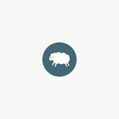 Stickers de naissance petit mouton blanc