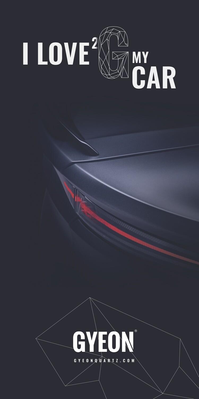 Banner Gyeon / I love 2 G my car NEW! 100x200