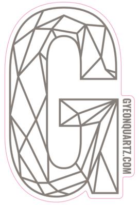 G Sticker Silver 400mm x 254,8mm