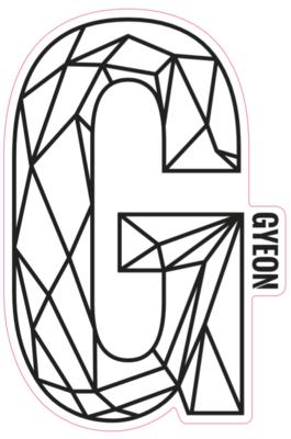 G Sticker Black 200mm x 131,3mm