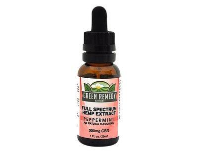 500mg Green Remedy Full Spectrum Hemp CBD Extract – Peppermint