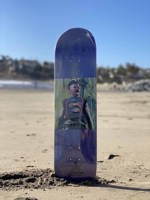 """""""Super Sloth"""" skateboard deck size 8.25"""
