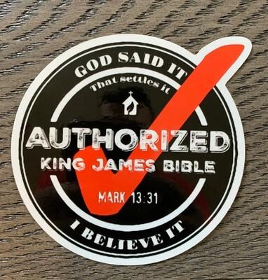 KJV1611 Sticker