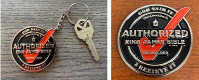 KJV1611  Coin & Keychain COMBO